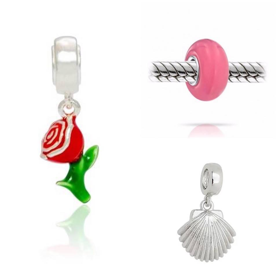Berloque: Rosa, Murano ou Concha