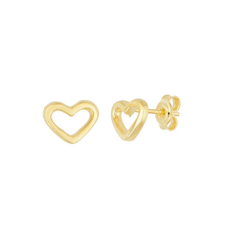 Brinquinho coração vazado banhado a ouro 18k