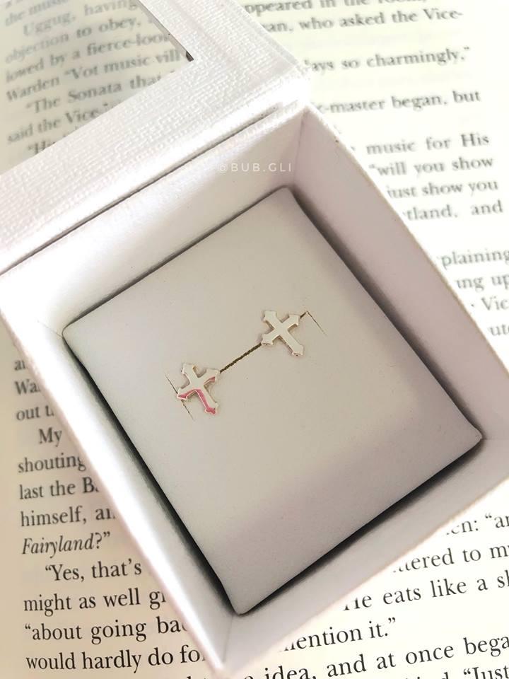 Brinquinho cruz lisa Prata 925