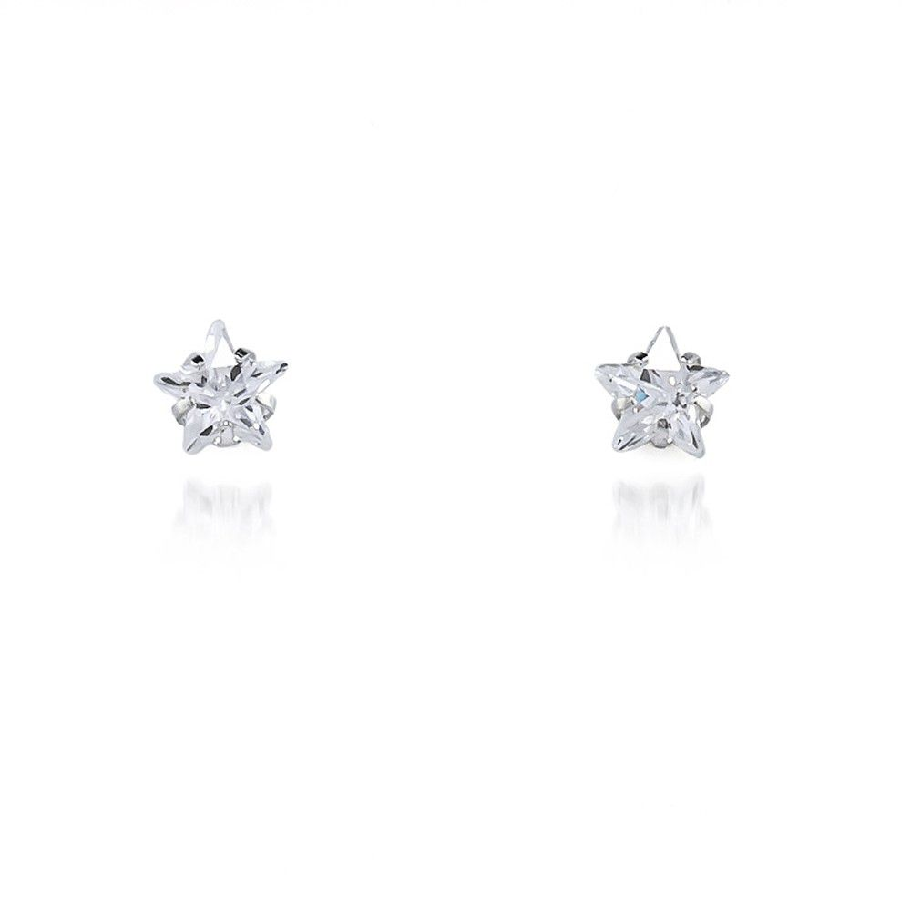 Brinquinho ponto de luz estrelado Prata 925 - ver tamanhos