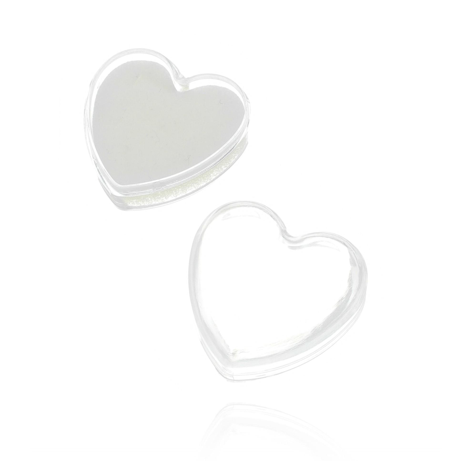 Caixinha para presente formato coração transparente