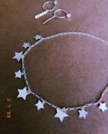Choker estrelas constelação banhada a ródio branco ou ouro 18k