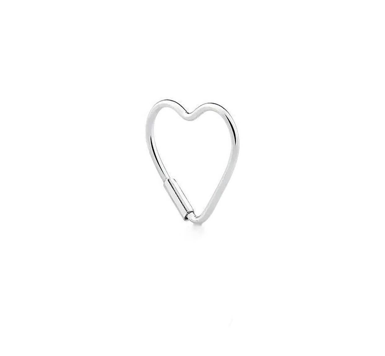Piercing argola de coração para hélix Prata 925