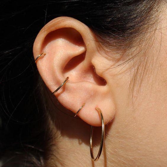 Piercing argola simples Aço cirúrgico