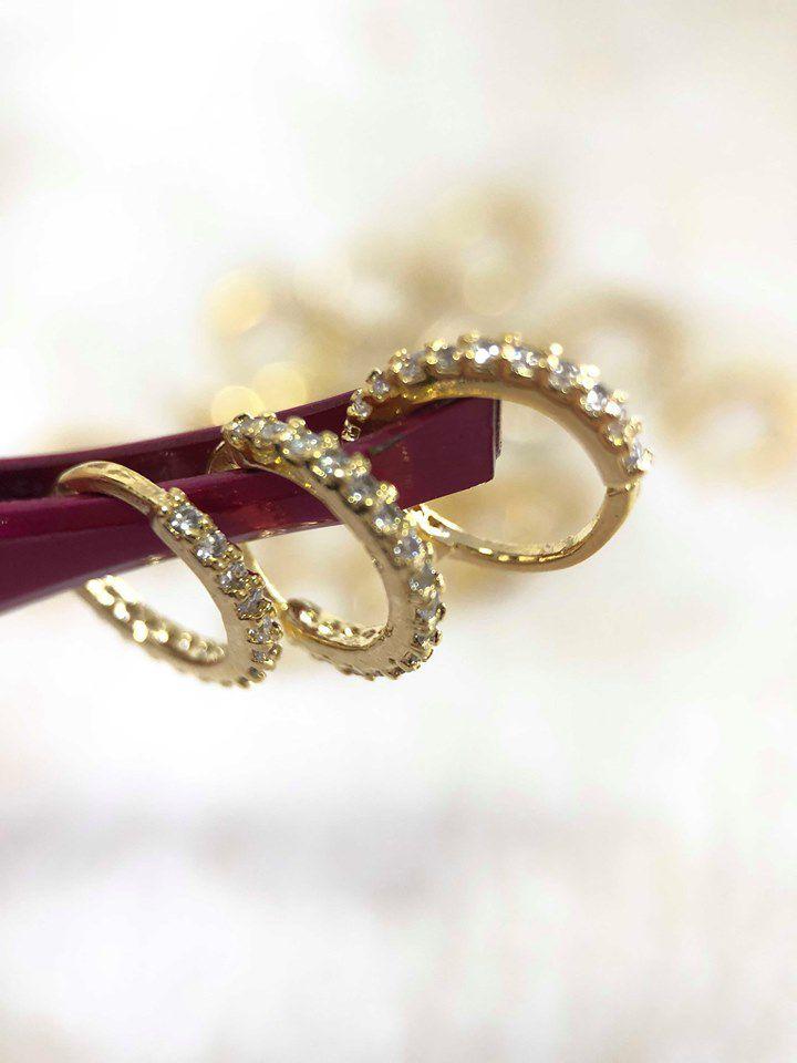 Piercing argolinha indiana cravejada em zircônias brilhantes - ver tamanhos
