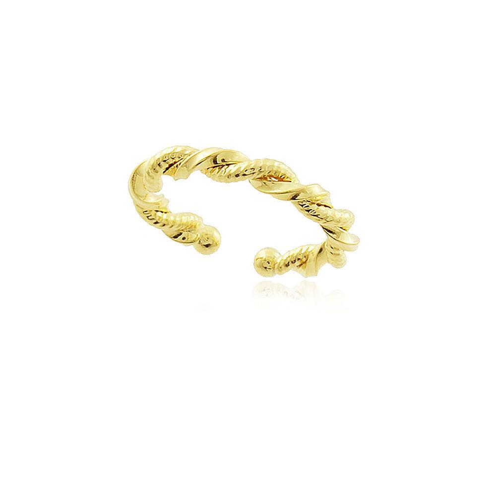 Piercing fake conch fio torcido folheado a ouro 18k