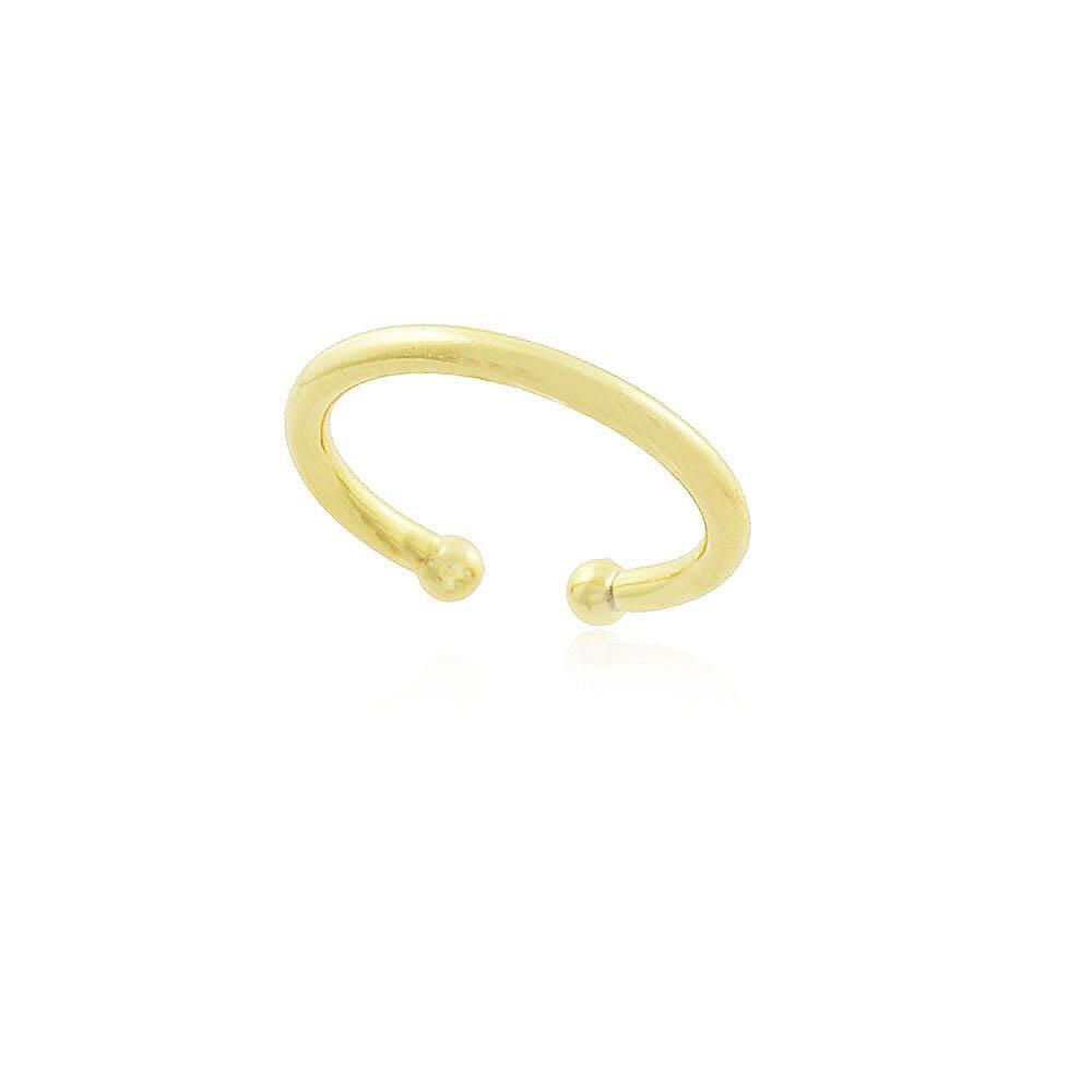 Piercing fake fio liso conch banhado a ródio branco ou ouro 18k