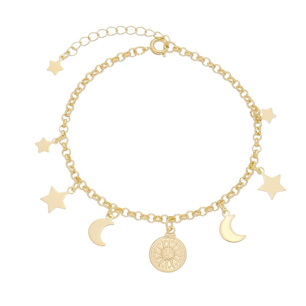 Pulseira sol, lua e estrela
