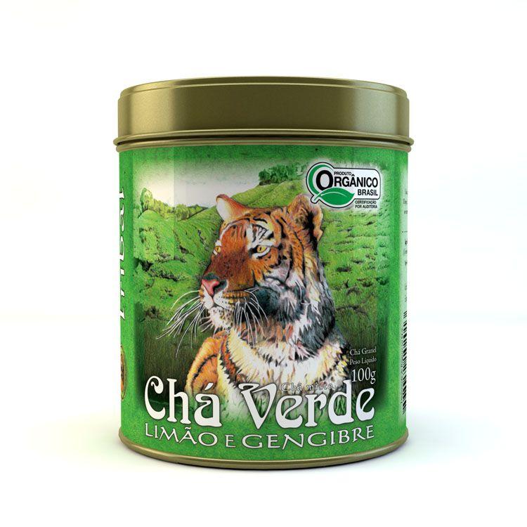 CHÁ VERDE LIMÃO/GENGIBRE 100G- LATA - TRIBAL