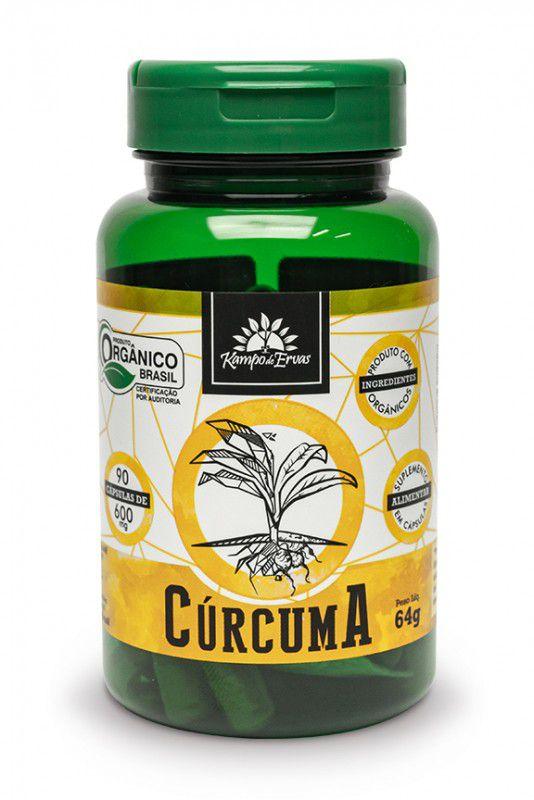 CURCUMA 600MG - 90 CAPS - KAMPO DE ERVAS