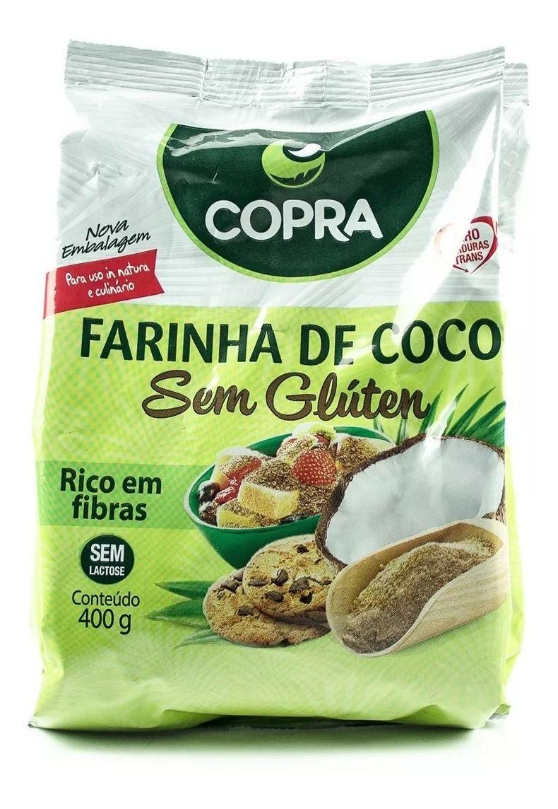 FARINHA DE COCO S/GLÚTEM 400G - COPRA
