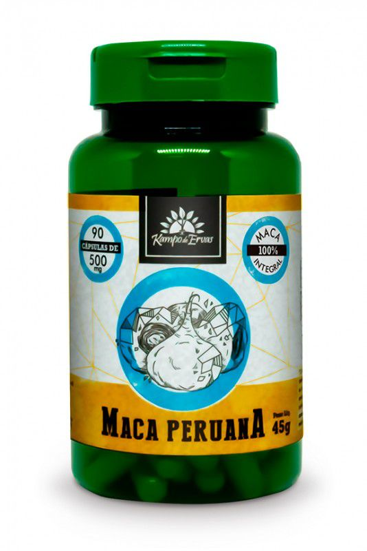 MACA PERUANA 500MG - 90 CAPS - KAMPO DE ERVAS