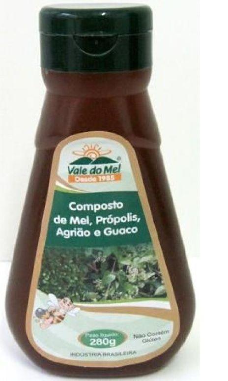 MEL C/ PRÓPOLIS AGRIÃO E GUACO 280GRS