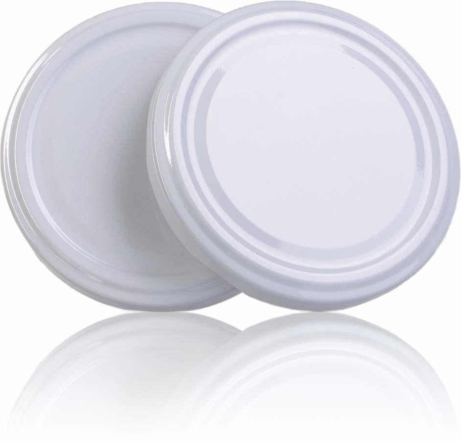 100 Tampas para Potes Branca Twist Off 74mm de 04 garras  - EMPÓRIO PACK