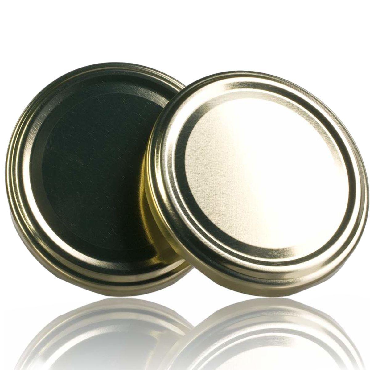 100 Tampas para Potes Dourada Twist Off 63mm de 04 garras  - EMPÓRIO PACK