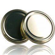 150 Tampas para Potes Dourada Twist Off 63mm de 04 garras