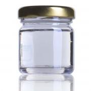 24 Potes de vidro Geleinha 40 ML, Com Tampa Dourado