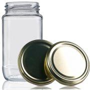 48 Potes De Vidro Azeitona 355 Ml Com Tampa Dourada + Lacre