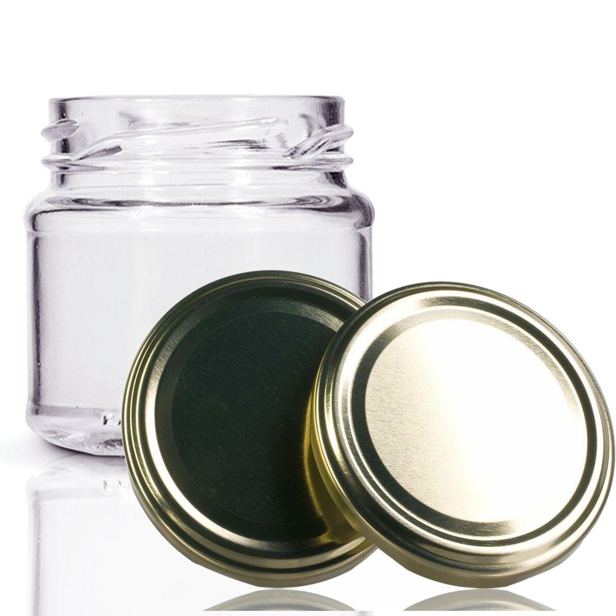 24 Potes De Vidro Mini Belém 150 Ml Tampa Dourada + Lacre  - EMPÓRIO PACK