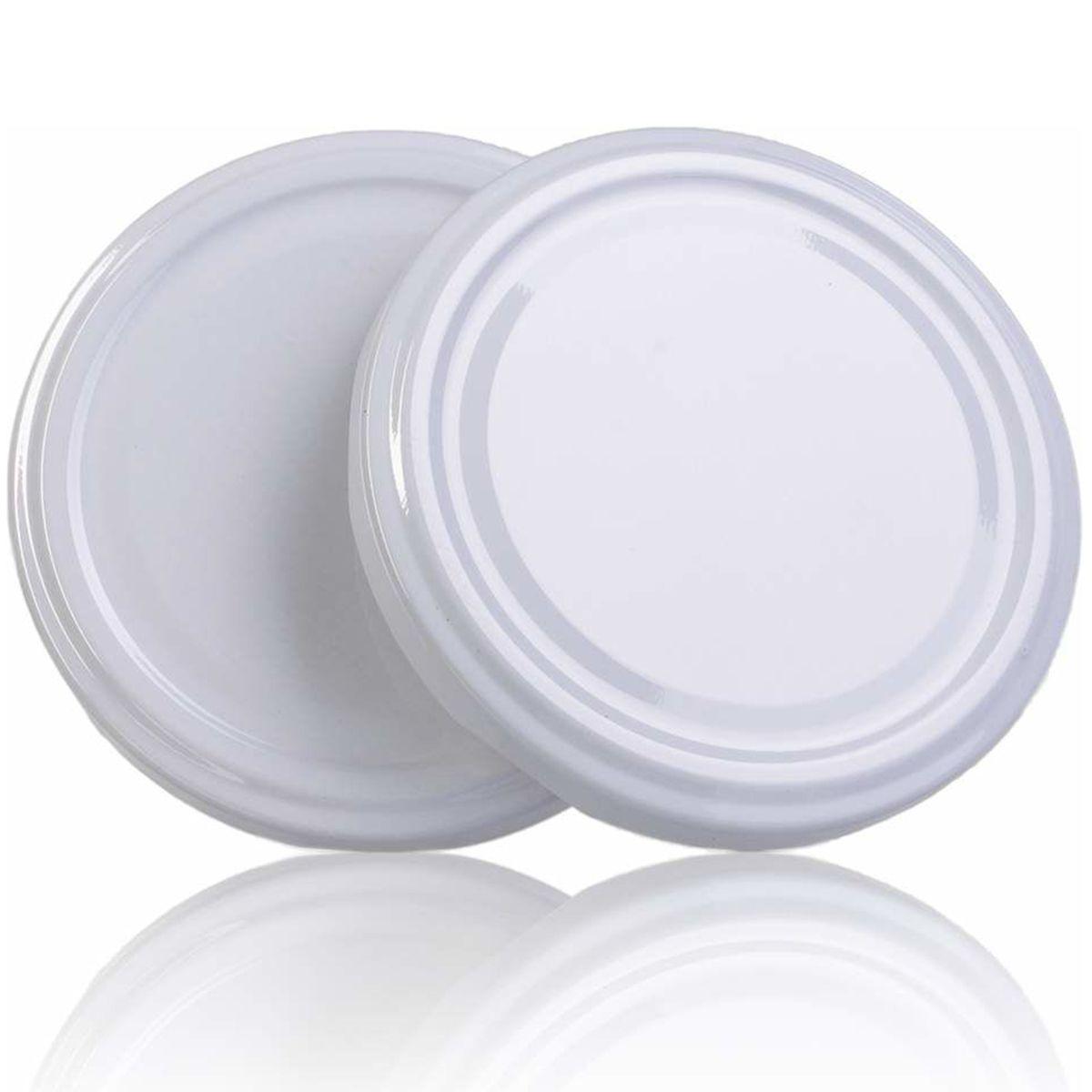 24 Potes De Vidro Sextavado 230 Ml Com Tampa Branca + Lacre  - EMPÓRIO PACK