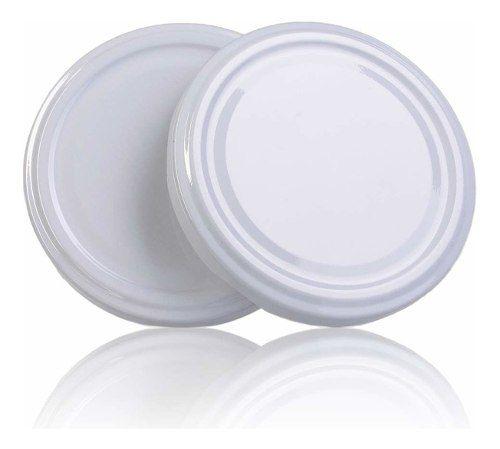 96 Potes De Vidro Conserva 200 Ml Com Tampa Branca + Lacre  - EMPÓRIO PACK