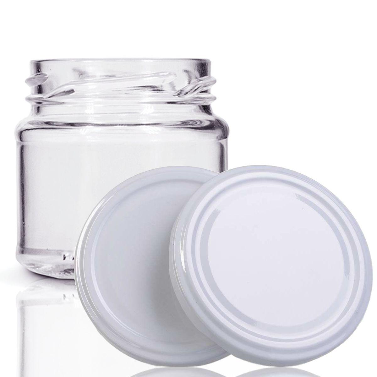 96 Potes De Vidro Mini Belém 150 Ml Tampa Branca + Lacre  - EMPÓRIO PACK