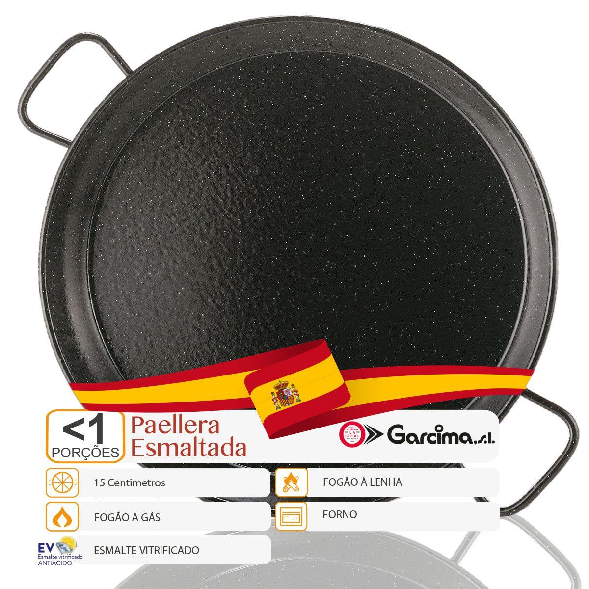 Kit 2 und Paellera Aço Esmaltada 15 Cm (<1 Porção) Garcima  - EMPÓRIO PACK