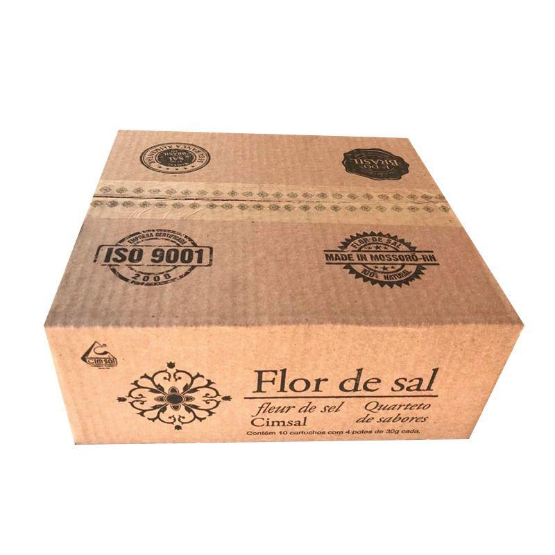 Flor de Sal Cimsal Quarteto de Sabores 10x4x30g