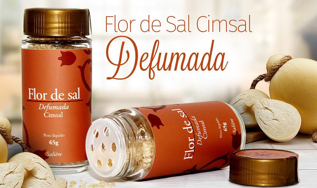Flor de Sal Cimsal Salière 65g - Defumada