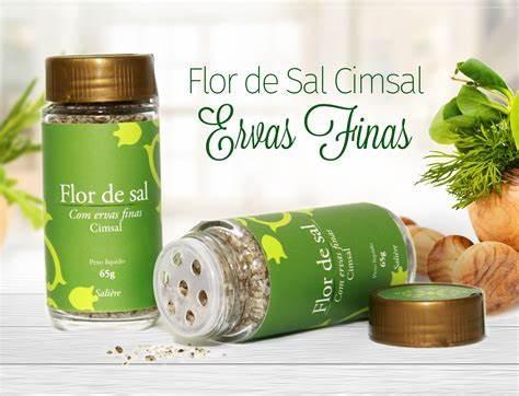 Flor de Sal Cimsal Saliere 65g -Ervas Finas
