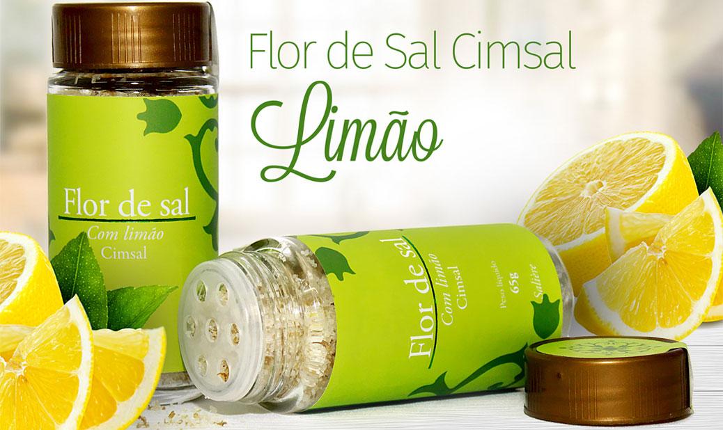 Flor de Sal Cimsal Saliere 65g - Limão