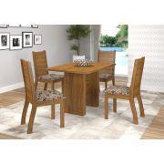 Conjunto de Jantar Quick Mesa e 4 Cadeiras Napoli MDF