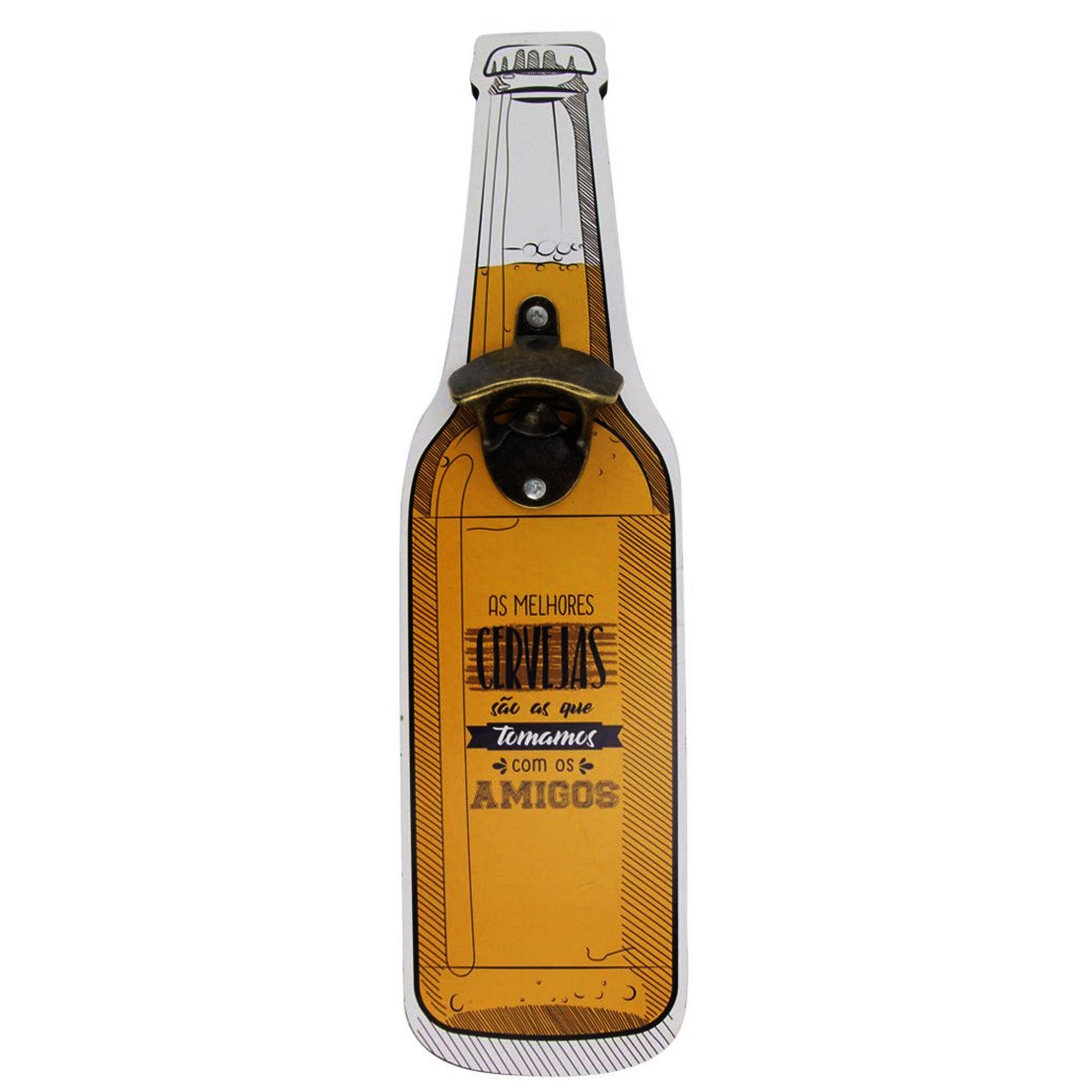 Placas de Parede com Ganchos Abridores de Cerveja