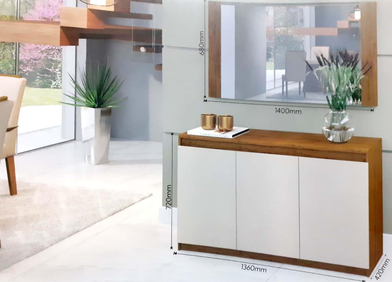Armário Buffet Onix Viero Imbuia / Off White