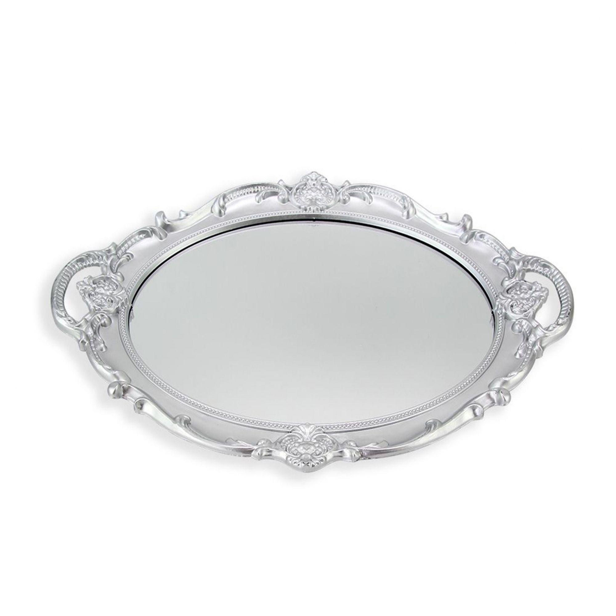 Bandeja Oval Com Espelho