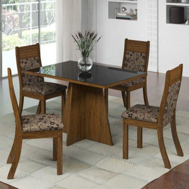 Conjunto mesa de jantar Servilha c/ 4 cadeiras
