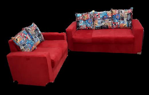 Conjunto de sofá 3 e 2 lugares Classic tecido suede