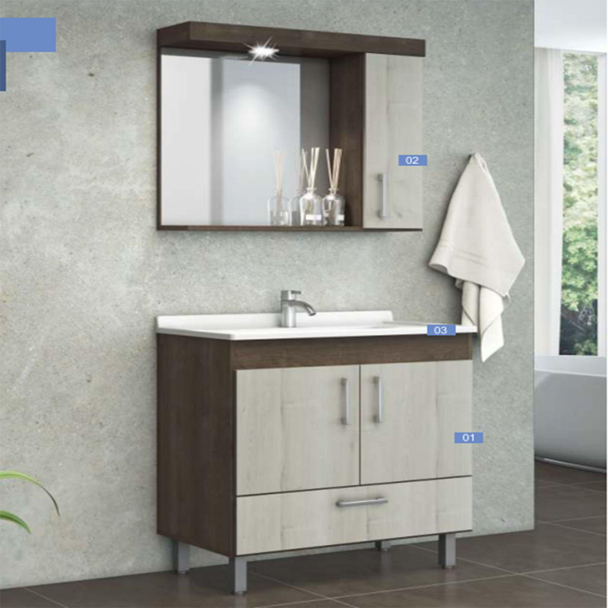 Conjunto Moderno para Banheiro Big   - Modia