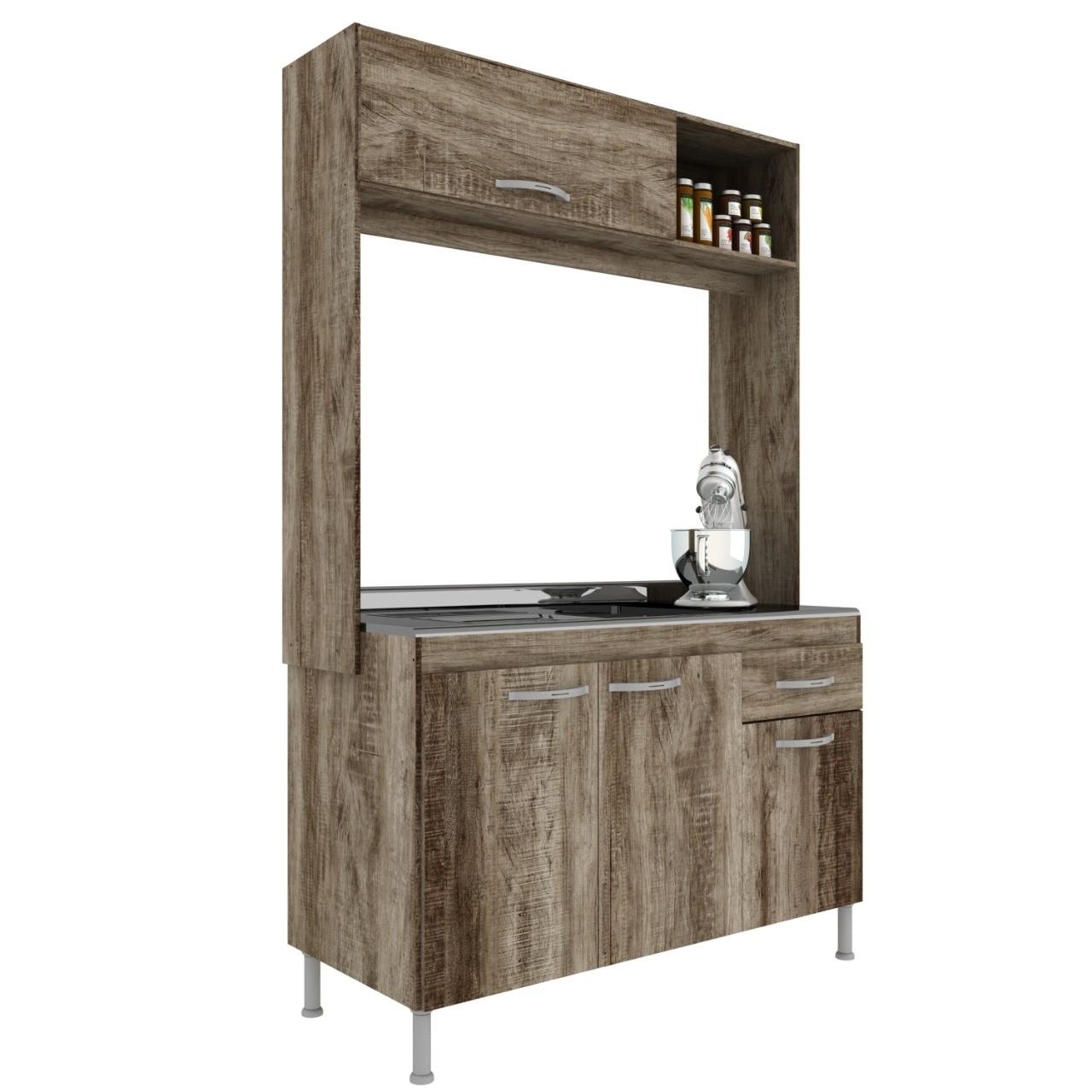 Cozinha Compacta 4 Portas 2 Gavetas Pop