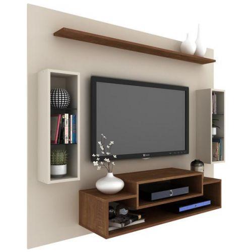 Painel de Tv vivace c/ Nichos Laterais até 50 polegadas