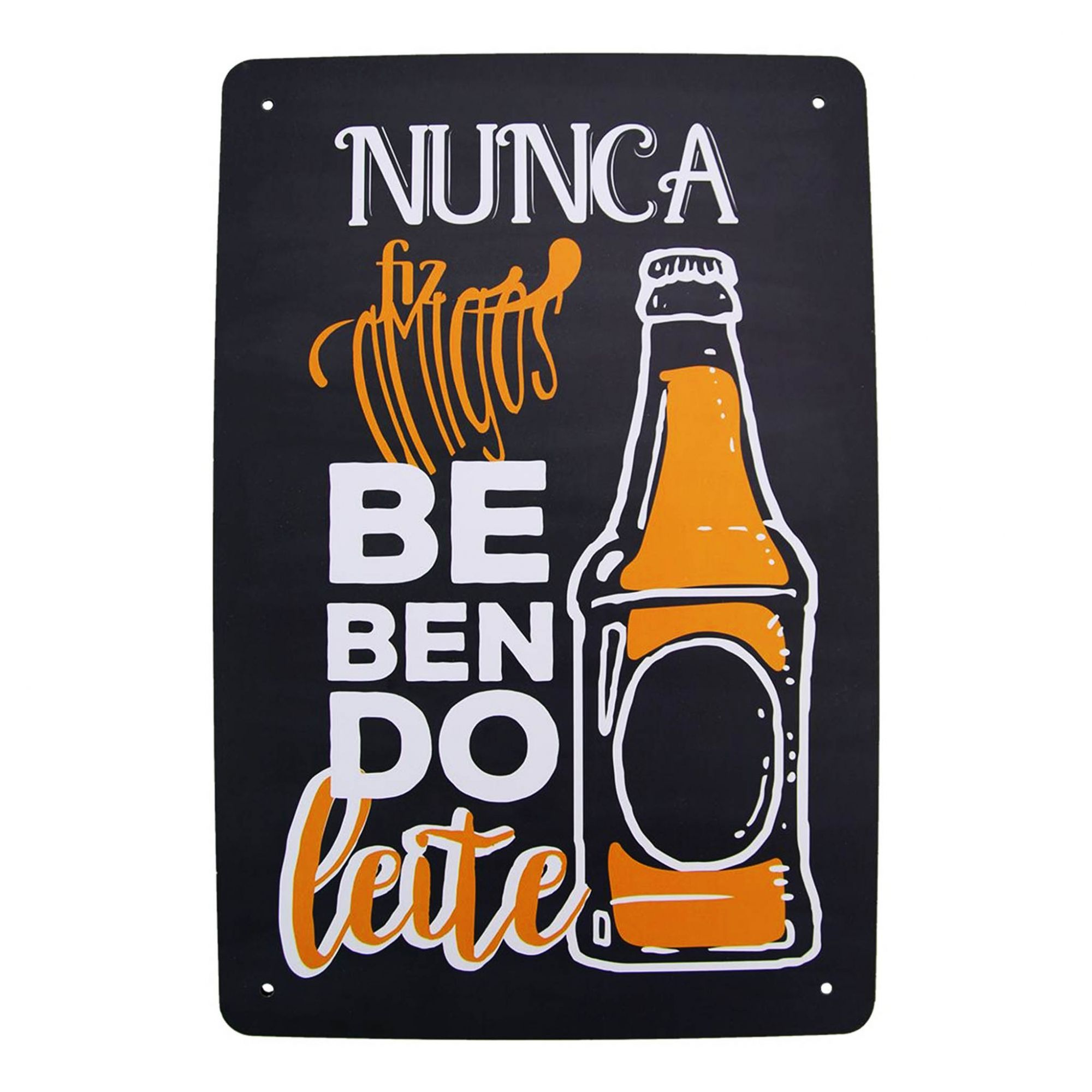 PLACA DECORATIVA BEER MDF