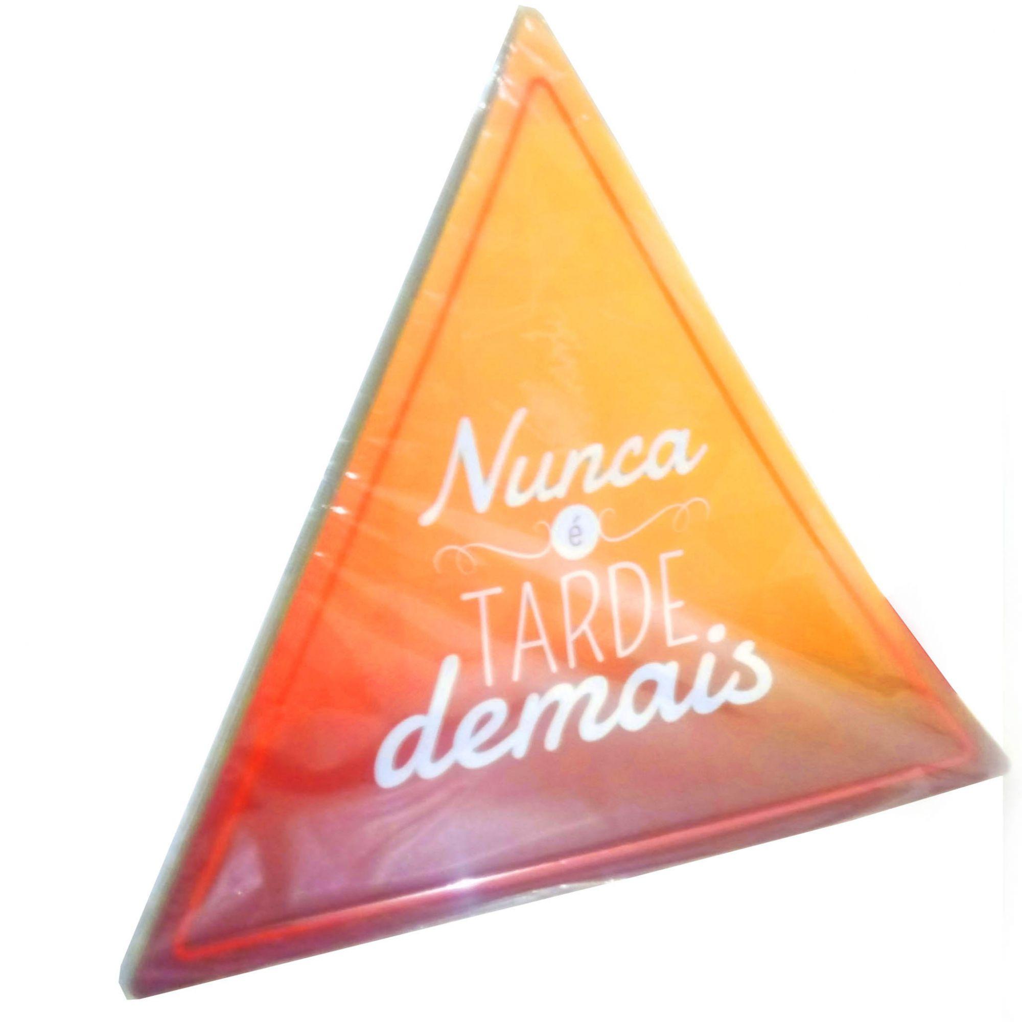 Placa Triangulo Para parede