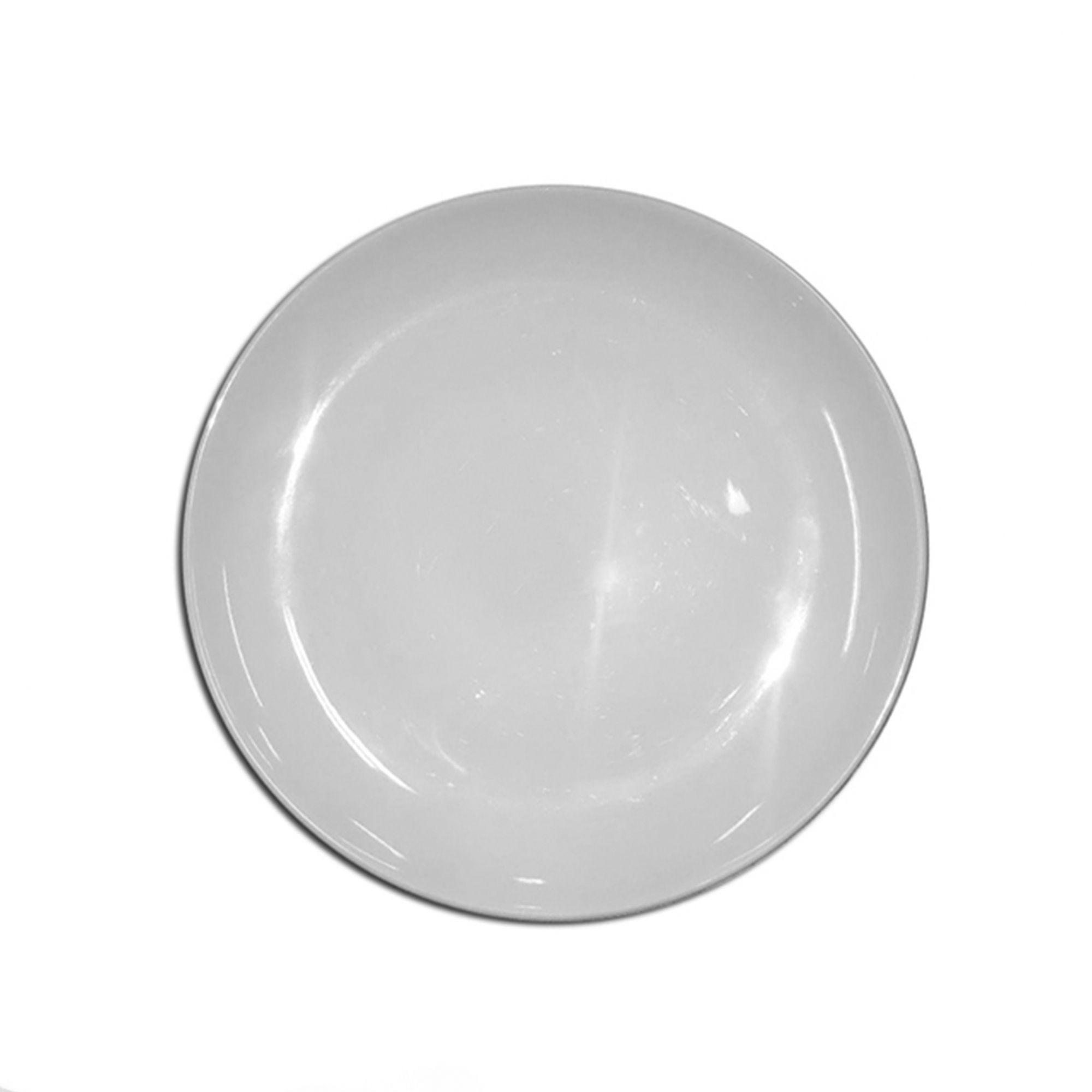 Prato Raso Branco 25,5 Cm Melamina Premium Buffet Festa