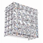 Arandela de Cristal Legitimo Quarto Sala Escada Lavabo Espelho Painel Cabeceira De Cama Living Hall C/ Led