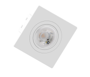 Spot de Embutir Dicroica Quadrado Orientável MR16 Face Plana Branco
