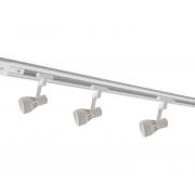Kit Trilho Eletrificado 1m Branco Oko Nordecor + 3 Spot Par20 Para Sala Quarto Cozinha Quadro