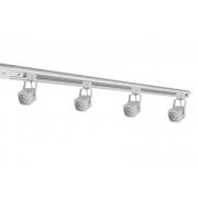 Kit Trilho Eletrificado 2m Branco Nordecor + 4 Spot Quad MR16 / GU10 Para Sala Quarto Cozinha Quadro