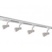 Kit Trilho Eletrificado 2m Branco Oko Nordecor + 4 Spot Par20 Para Sala Quarto Cozinha Quadro