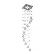 Luminária de Embutir Cristal Legitimo Espiral Quarto Feng Shui Sala Lavabo Decoração C/ Led