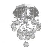 Lustre de Cristal Legitimo 15cm  Corredor Lavabo Hall Entrada Sacada C/ Lâmpadas Led